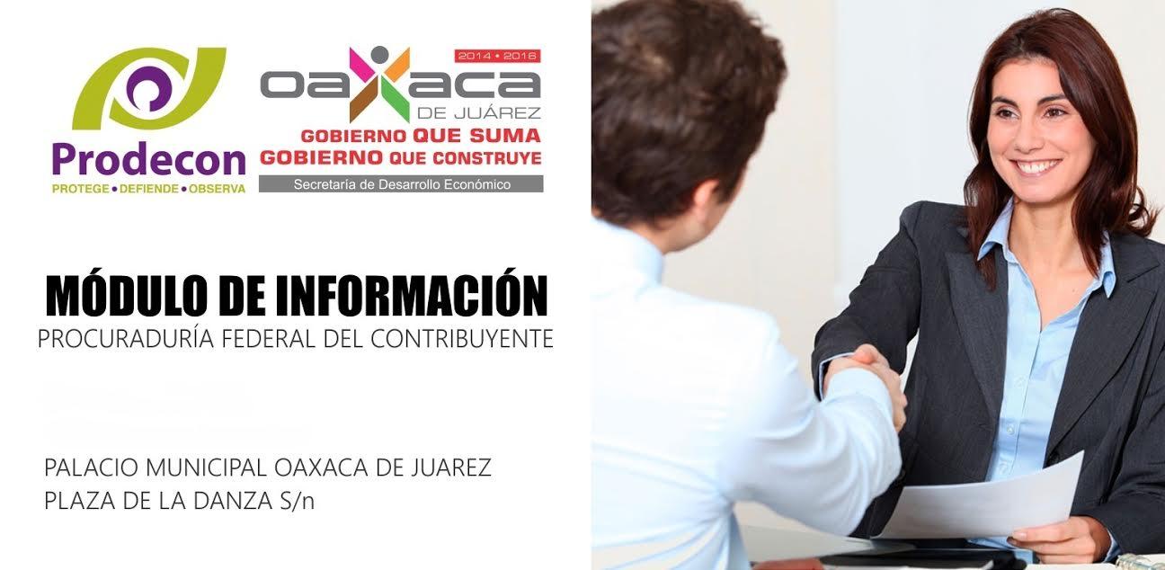 Municipio De Oaxaca Y Prodecon Instalarán Módulo De