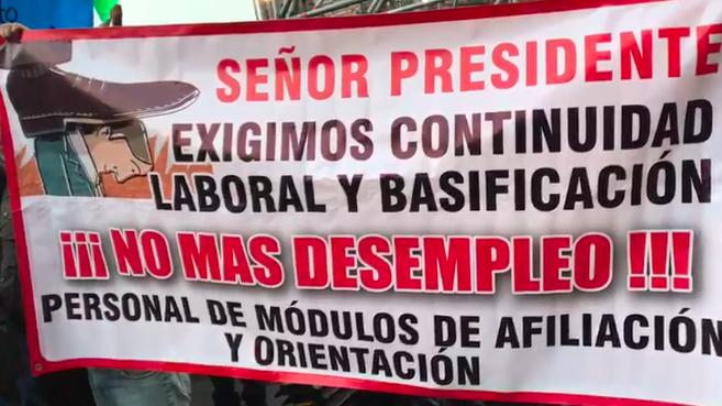 Trabajadores Del Seguro Popular Protestan En Palacio