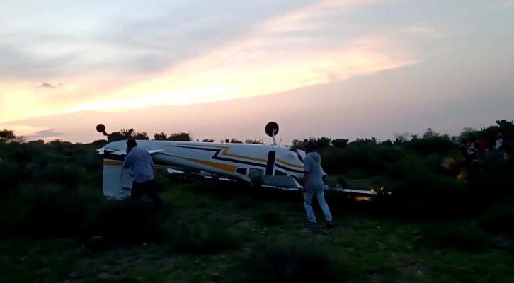 Avioneta se desplomó en un cerro al sur de la capital potosina (21:38 h)